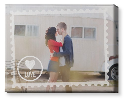 Stamped In Love Canvas Print