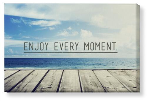 Enjoy Every Moment Framed Canvas Print Wall Art Shutterfly