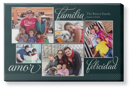 Amor Familia Felicidad Canvas Print