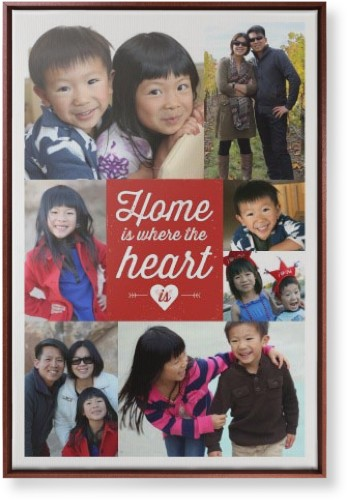 Home And Heart Canvas Print