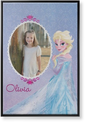 Disney Frozen Elsa Canvas Print, Black, Single piece, 24 x 36 inches, Purple
