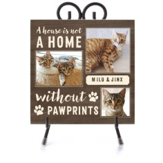 pawprints ceramic tile