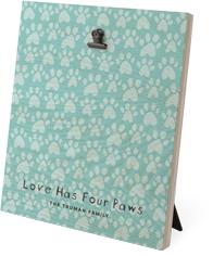 playful patterns pawprint clip photo frame