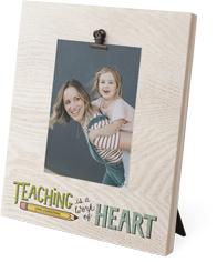 teaching heart clip photo frame