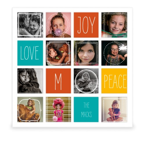 Love Joy Peace 16 Square Collage Frame | Collage Picture Frames ...