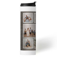 best rustic collage stainless steel travel mug