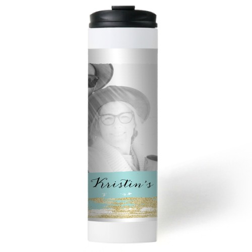 Brushed Stroke Collage Stainless Steel Travel Mug