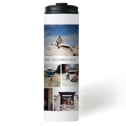 To The Moon and Back Grid Collage Stainless Steel Travel Mug