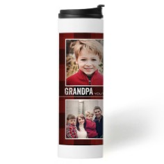 youre the best plaid stainless steel travel mug