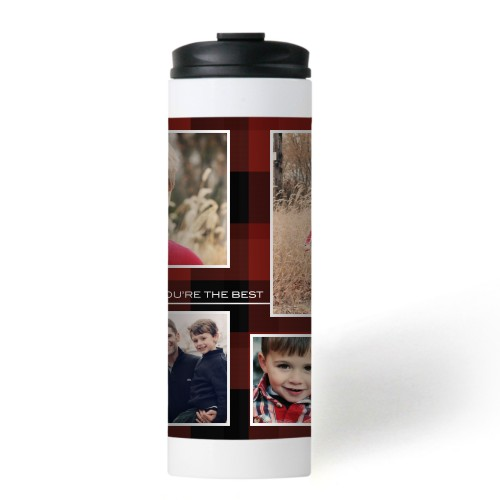 You're The Best Plaid Stainless Steel Travel Mug