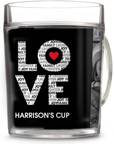 Love In A Word Cup, 12oz Cup, Black