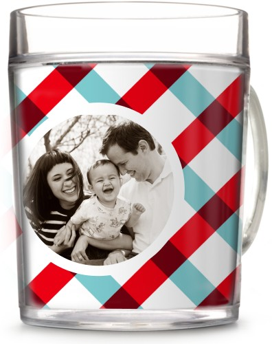 Gingham Gallery Cup, 12oz Cup, Multicolor