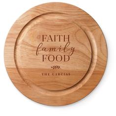 faith family food cutting board