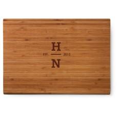 vertical monogram cutting board