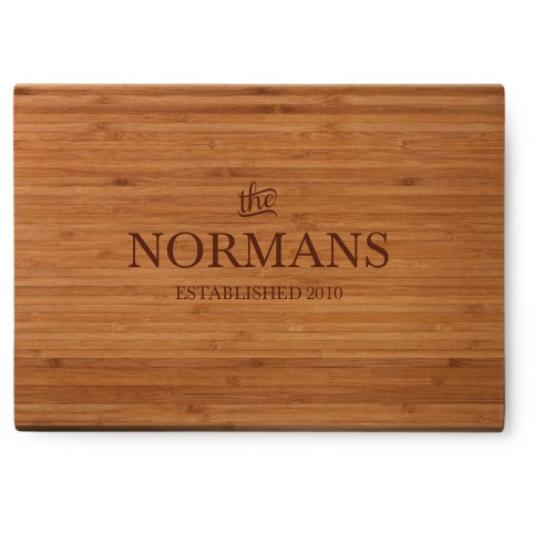 Stately Name Cutting Board