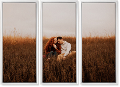 three panoramic 10x24 spread canvas prints