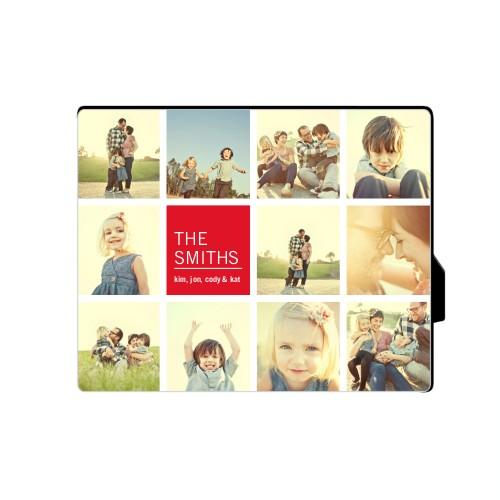 Family Collage Squares Desktop Plaque
