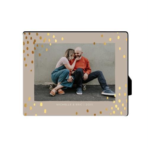 Organic Dots Desktop Plaque, Rectangle, 8 x 10 inches, Beige