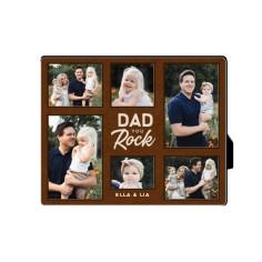 dad you rock desktop plaque