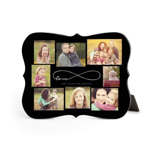 Love Infinity Desktop Plaque, Bracket, 8 x 10 inches, Black