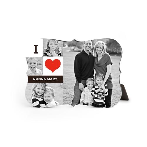I Heart You Desktop Plaque, Bracket, 5 x 7 inches, White