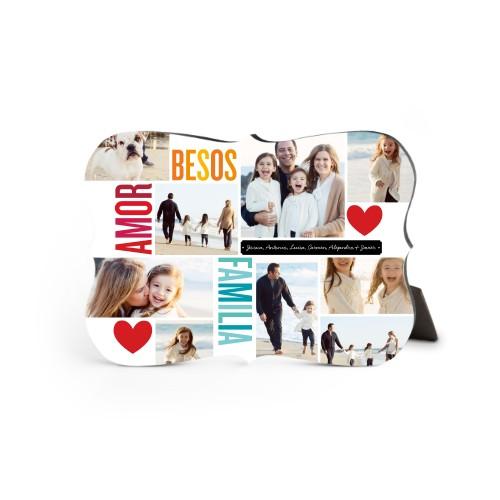 Amor Besos Familia Desktop Plaque
