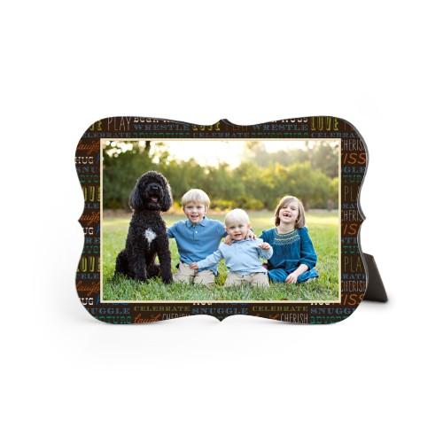 Family Moments Desktop Plaque, Bracket, 5 x 7 inches, Multicolor