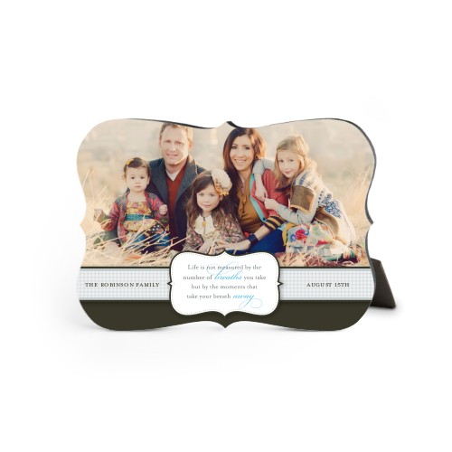 Special Moments Desktop Plaque, Bracket, 5 x 7 inches, Brown