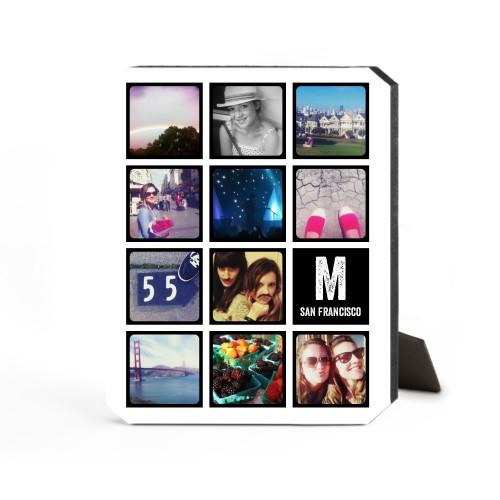Pictogram Vertical Desktop Plaque, Ticket, 8 x 10 inches, Black