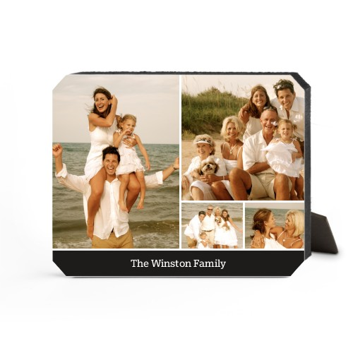 Simply Family Desktop Plaque, Ticket, 8 x 10 inches, Black