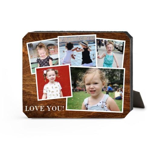 Woodgrain Montage Desktop Plaque, Ticket, 8 x 10 inches, Brown