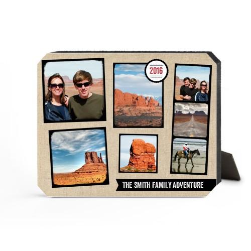 Full Of Adventure Desktop Plaque, Ticket, 8 x 10 inches, Beige