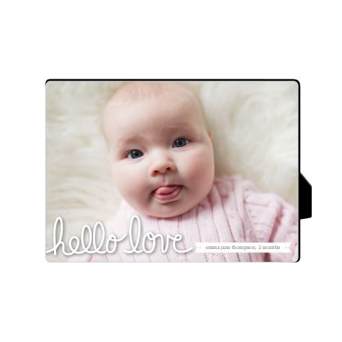 Hello Love Desktop Plaque