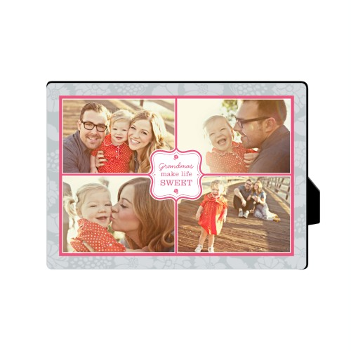 Sweet Grandma Desktop Plaque, Rectangle, 5 x 7 inches, Grey