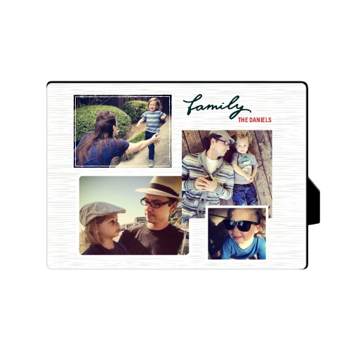 Family Montage Desktop Plaque, Rectangle, 5 x 7 inches, Grey