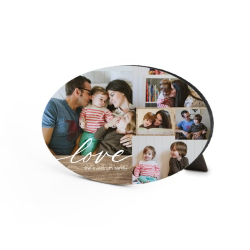 Rustic Love Oval Desktop Plaque, Oval, 6 x 8.5 inches, Brown