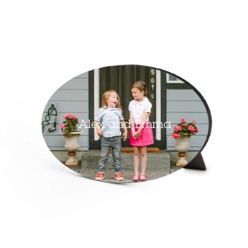 Photo Gallery Landscape Oval Desktop Plaque, Oval, 6 x 8.5 inches, Multicolor