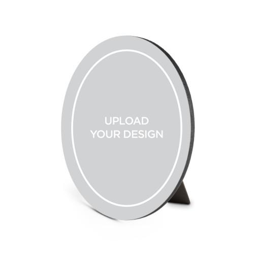 Upload Your Own Design Portrait Oval Desktop Plaque, Oval, 6 x 8.5 inches, Multicolor