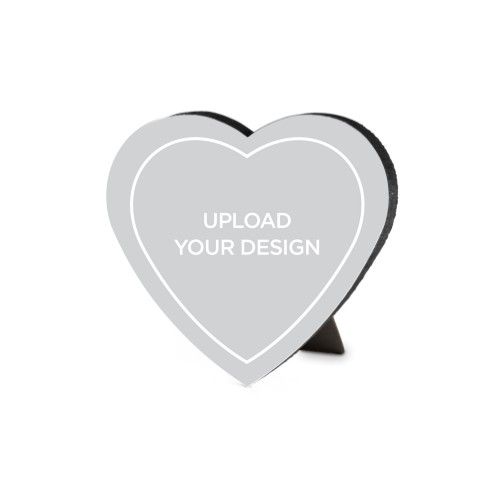 Upload Your Own Design Heart-Shaped Desktop Plaque, Heart, 6 x 6.5 inches, Multicolor
