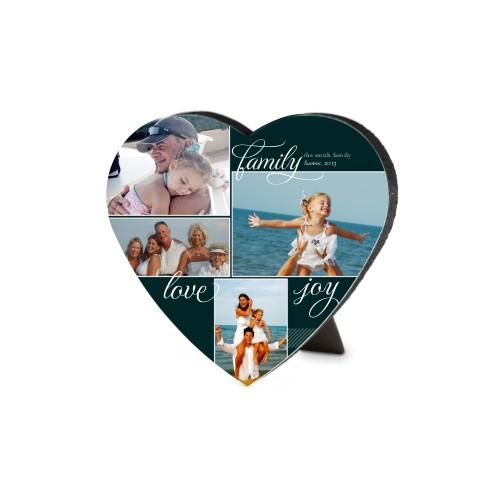 Family Sentiments Heart-Shaped Desktop Plaque, Heart, 6 x 6.5 inches, Black