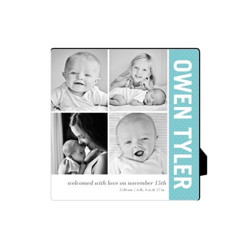 Collage Baby Blue Desktop Plaque