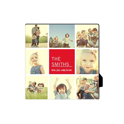 Family Collage Squares Desktop Plaque, Rectangle, 5 x 5 inches, DynamicColor