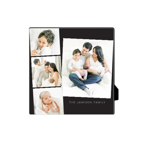 Gallery Filmstrip Desktop Plaque, Rectangle, 5 x 5 inches, Grey