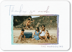 brushed frame thanks thank you card