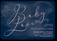 grand graceful script baby shower invitation