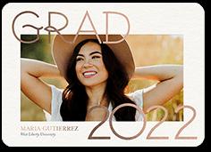 thin elegant grad graduation announcement