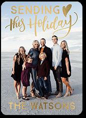 sending sentiments holiday card