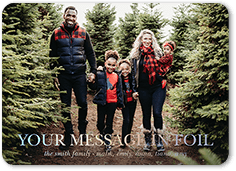 customized sentiment holiday card