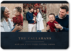 simple classic elegance holiday card