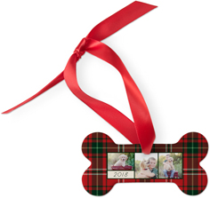 best in show plaid dog ornament